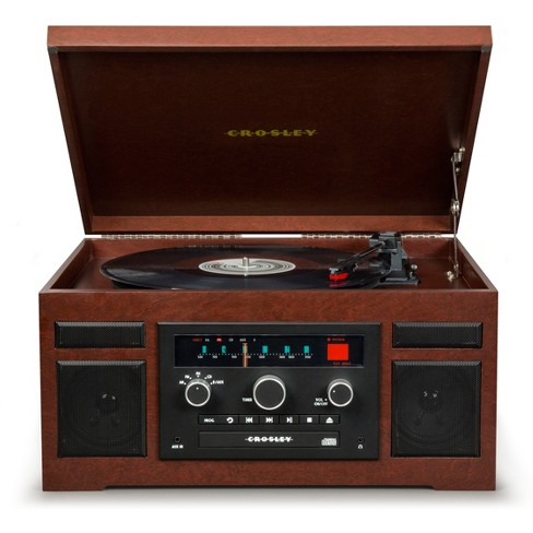 866506ca3372 Crosley Patriarch Entertainment Center With Bluetooth And PVC Veneer -  Mahogany   Target