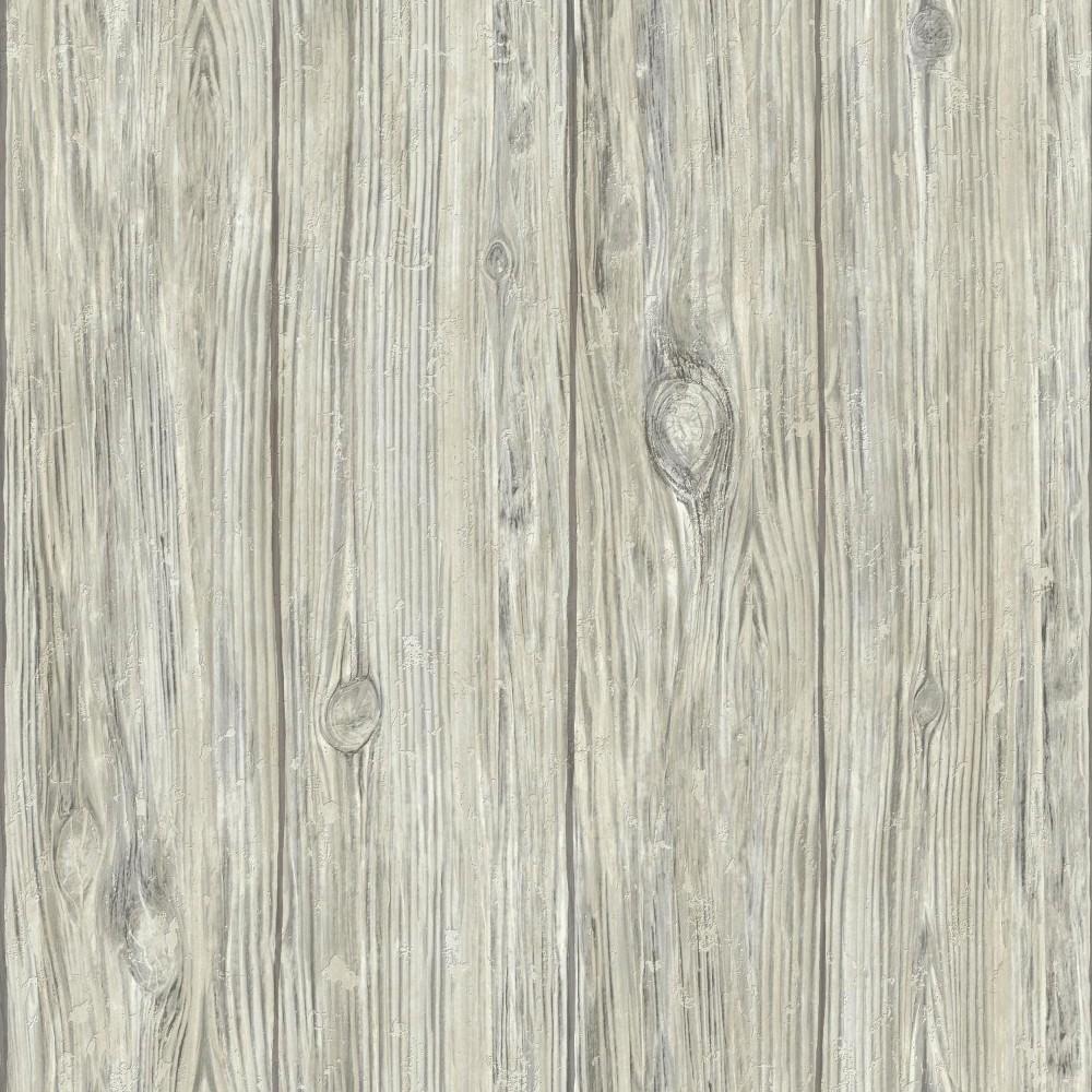 Mushroom Wood Peel & Stick Wallpaper Gray - RoomMates