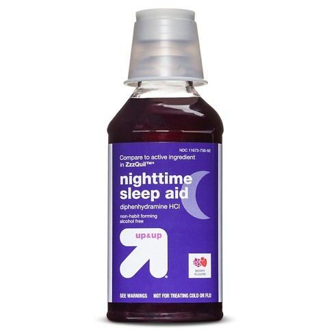Diphenhydramine Hcl Nighttime Sleep Aid Liquid Berry 12 Fl Oz Up Up