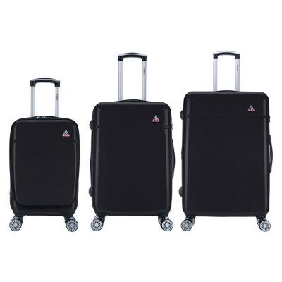 "InUSA Avila 3pc Hardside Spinner Luggage Set 20""& 24""& 28"" - Black"