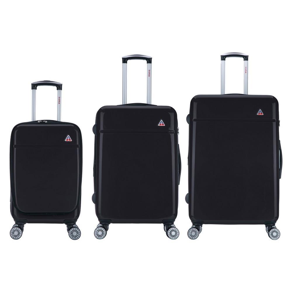 """Image of """"InUSA Avila 3pc Hardside Spinner Luggage Set 20""""""""& 24""""""""& 28"""""""" - Black"""""""