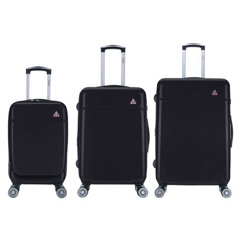 """InUSA Avila 3pc Hardside Spinner Luggage Set 20""""& 24""""& 28"""" - Black - image 1 of 4"""