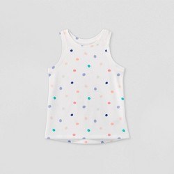 Toddler Girls' Polka Dot Tank Top - Cat & Jack™ White