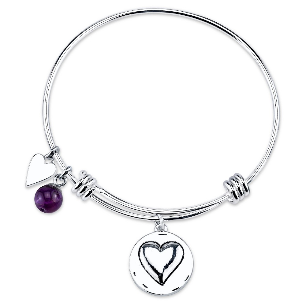 Women's Stainless Steel Grandma you are always loved Expandable Bracelet - Silver (8)