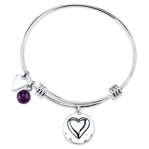 "Women's Stainless Steel Grandma you are always loved Expandable Bracelet - Silver (8"") - image 1 of 2"