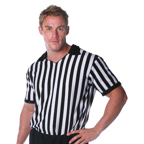Halloween Adult Referee Shirt Costume, Men's, Size: One Size, MultiColored