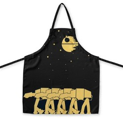 Seven20 OFFICIAL Star Wars Kitchen Apron   Cooking Apron with Death Star & AT-AT Walkers