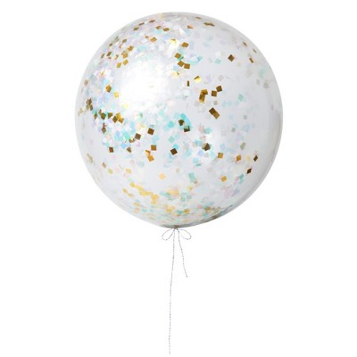 Meri Meri - Giant Iridescent Balloon Kit - Balloons and Balloon Accessories - 3ct