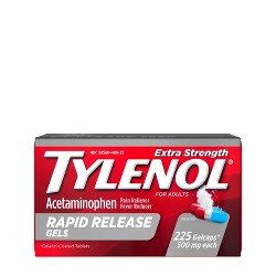Tylenol Extra Strength Pain Reliever & Fever Reducer Rapid Release Gelcaps - Acetaminophen