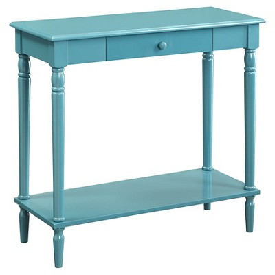 French Country Hall Table with Drawer/Shelf Blue - Breighton Home