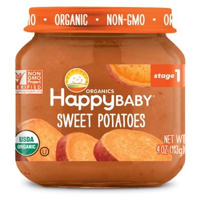 HappyBaby Fruit And Vegetable Snacks Sweet Potatoes Baby Food - 4oz