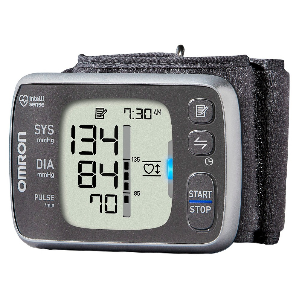 Omron 7 Series Wrist Bluetooth Blood Pressure Monitor, Gray
