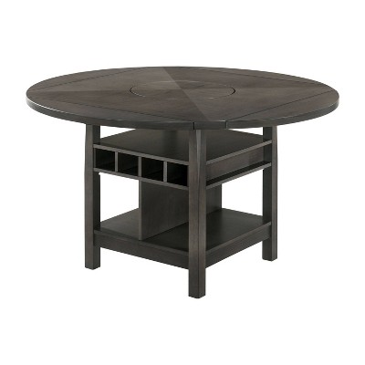"""60"""" Summerland Round Counter Height Dining Table Gray - HOMES: Inside + Out"""