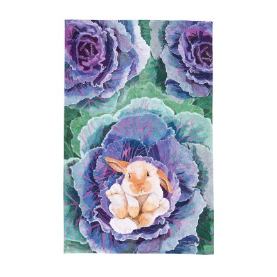 C&F Home Bunny In The Cabbage Easter Kitchen Towel