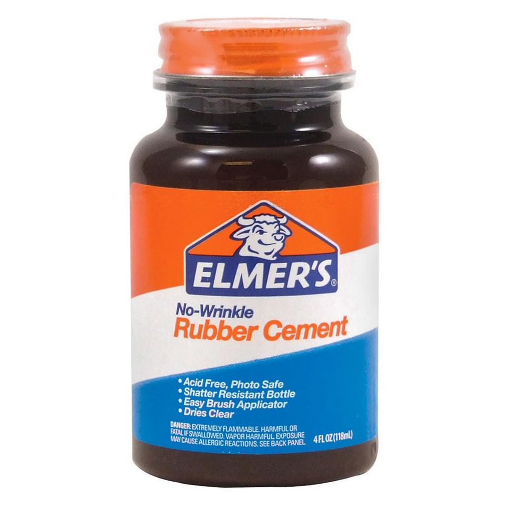 Image of 4Oz Elmers Rubber Cement, Clear