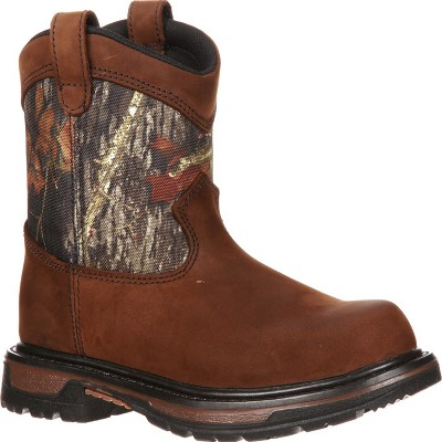 Rocky Kids' Ride Wellington Waterproof Camo Boot
