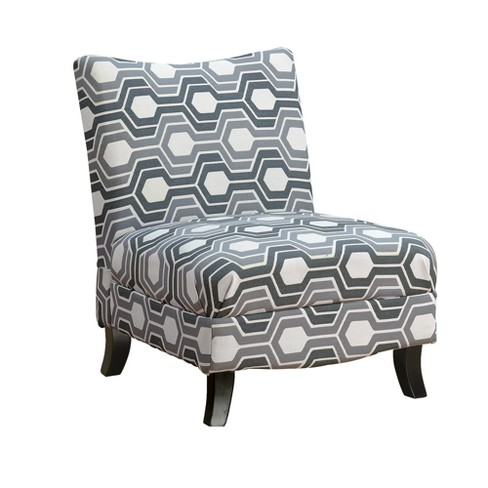 Accent Chair - Grey Geometric - EveryRoom - image 1 of 2