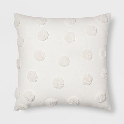 Pom Square Throw Pillow Cream - Opalhouse™