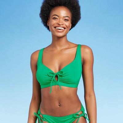 Women's Keyhole Tie-Front Bikini Top - Kona Sol™ Green