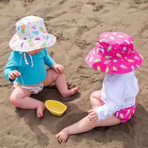 I Play Baby Girls  Sun Protection Bucket Hat - White   Target 59b10b49d76c