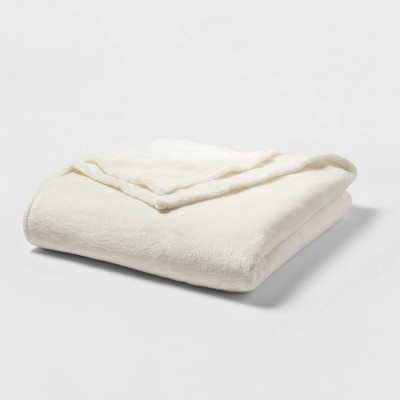Full/Queen Microplush Bed Blanket Sour Cream - Threshold™