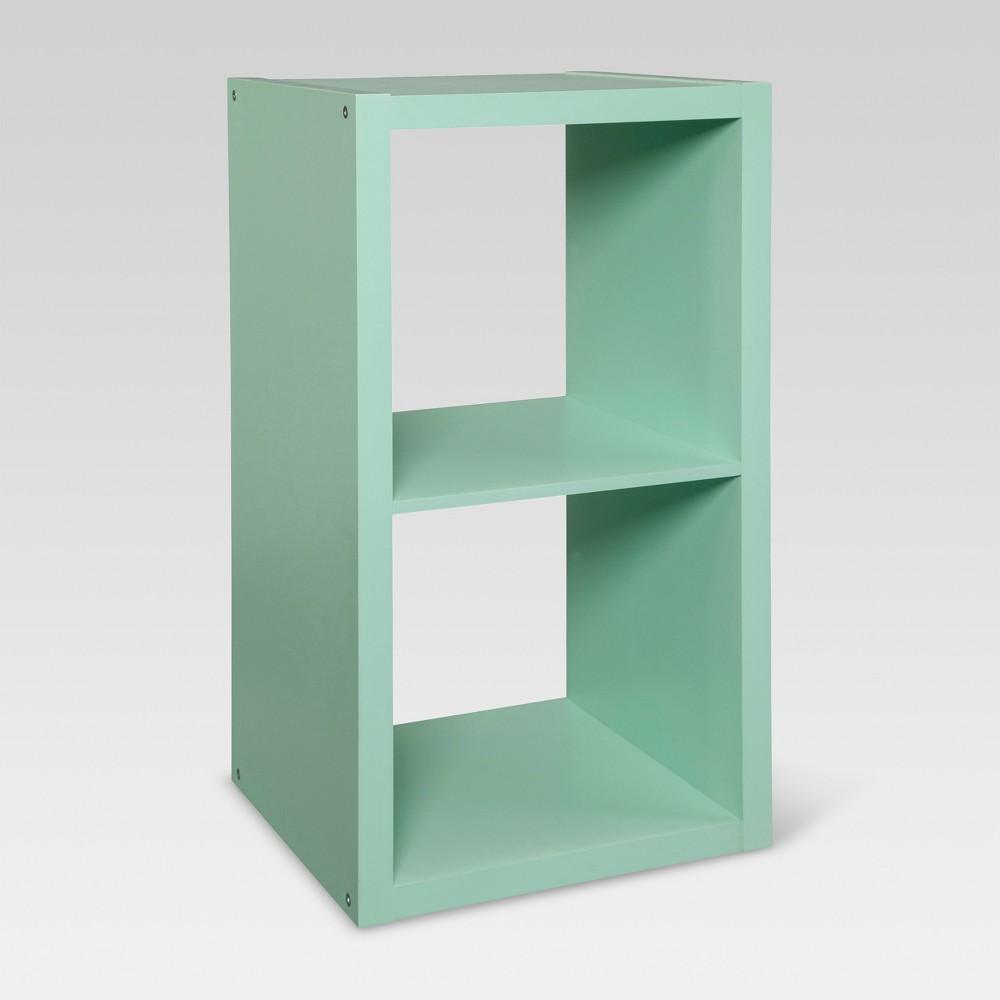 "Image of ""13"""" 2-Cube Organizer Shelf Mint - Threshold , Green"""
