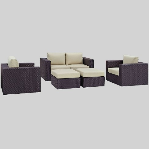 Convene 5pc Outdoor Patio Sofa Set - Modway - image 1 of 2