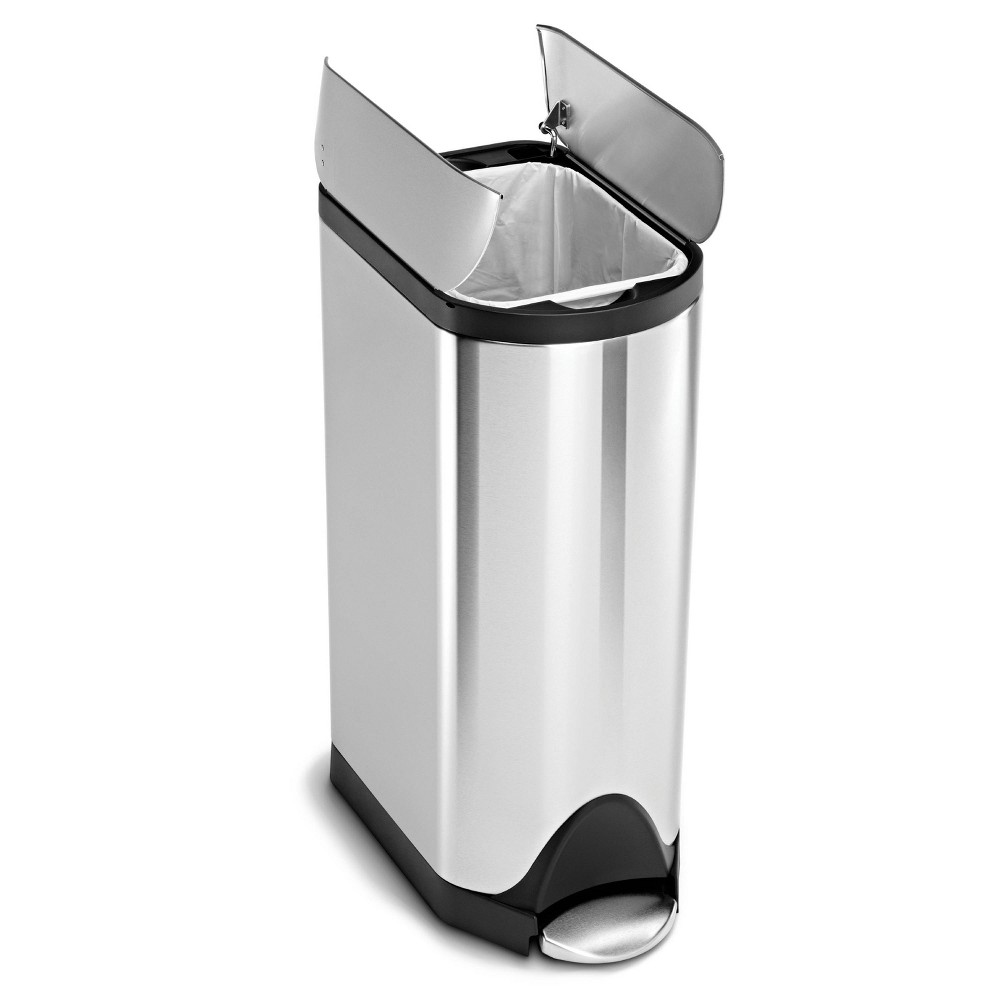 Image of simplehuman 30 ltr Butterfly Step Trash Can Brushed Stainless Steel