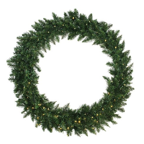 Northlight 48 Prelit Led Buffalo Fir Warm White Artificial Christmas Wreath Lights Target