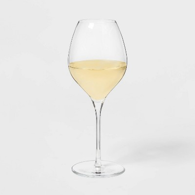 16oz 4pk Glass Ballooned White Wine Glasses - Threshold™