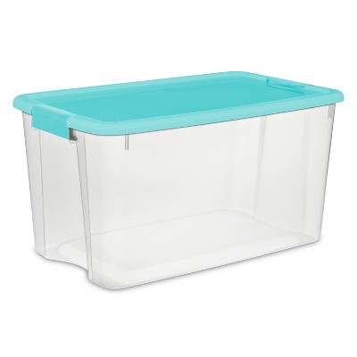 70qt Ultra Utility Storage Box Clear/Blue - Sterilite