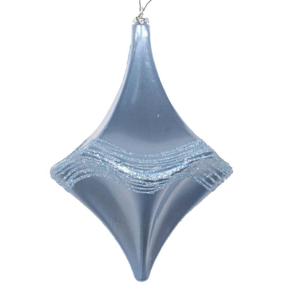 Vickerman 8 34 Candy Glitter Drop Ornament Periwinkle