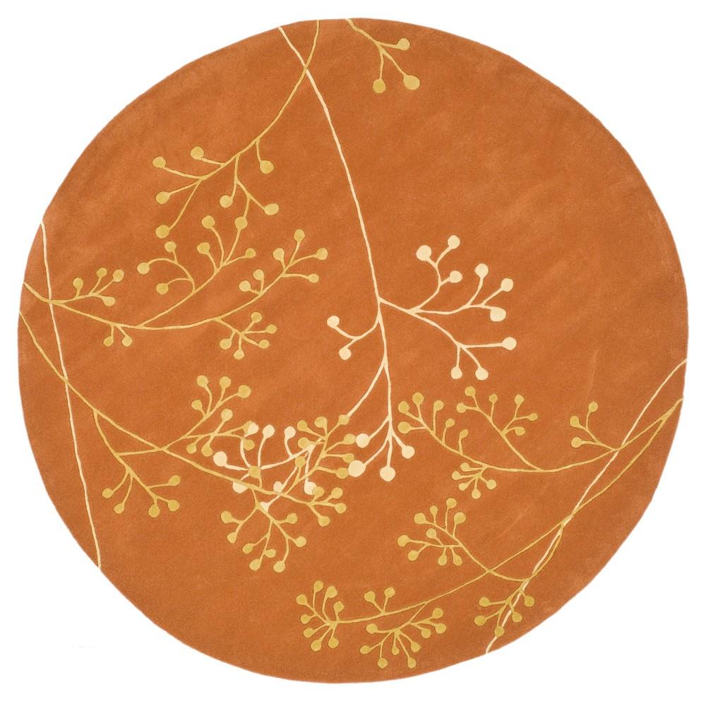Walsall Area Rug - Rust (Red) (6' Round) - Safavieh