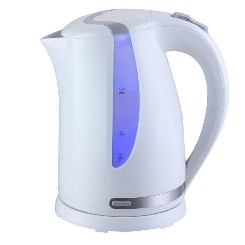 MegaChef 1.7L Electric Tea Kettle - White - image 1 of 3