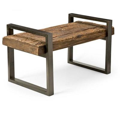 Beau Reclaimed Wood U0026 Iron Outdoor Garden Bench, Bronze   Plow U0026 Hearth