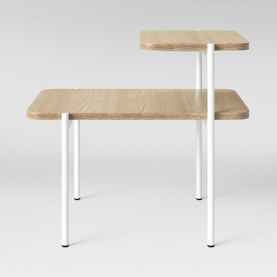 Mandelin Wood/Metal Side Table Natural/White - Project 62™