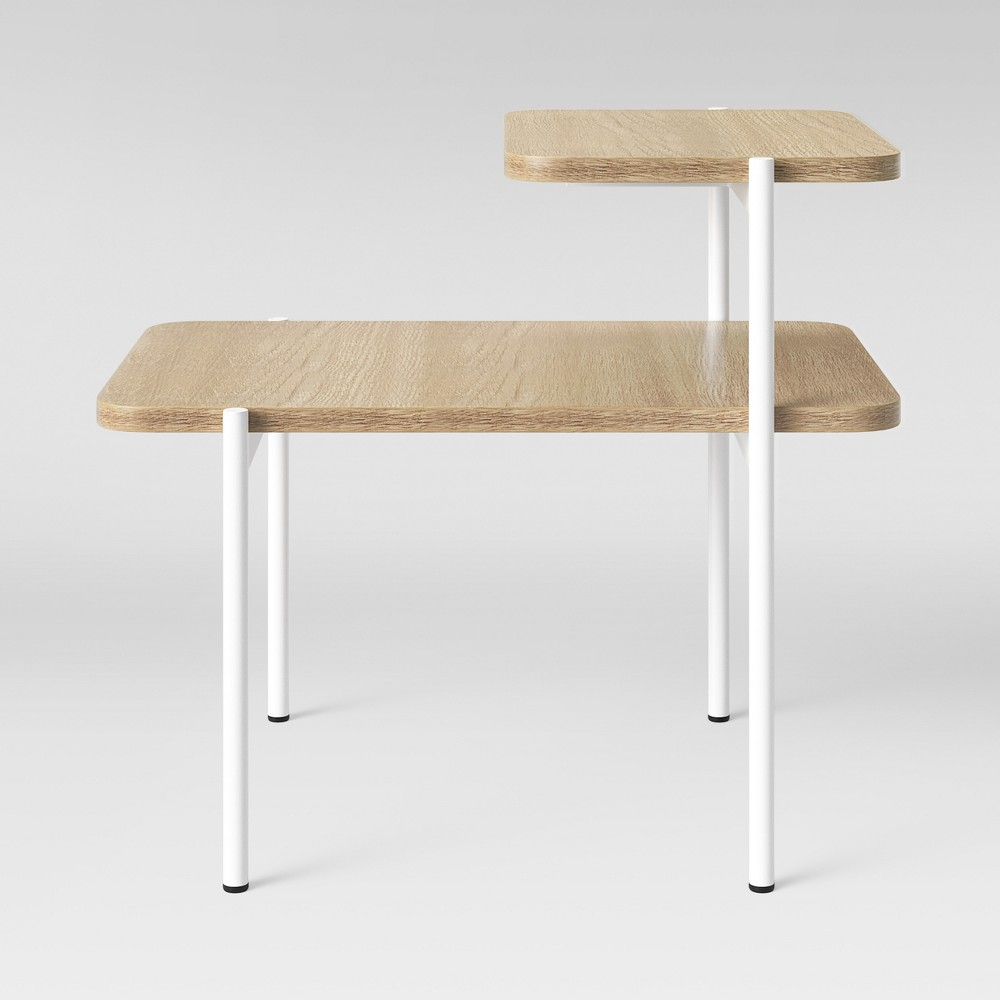Mandelin Wood/Metal Side Table Natural/White - Project 62