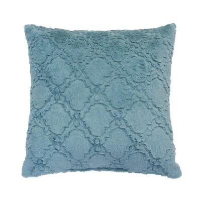 Set of 2 Mia Lattice Square throw Pillows & Decorative Set Blue - Décor Therapy