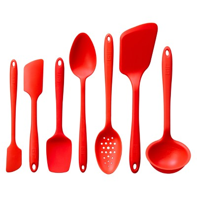 GIR Ultimate Silicone Kitchen Tool 7pc Set Red