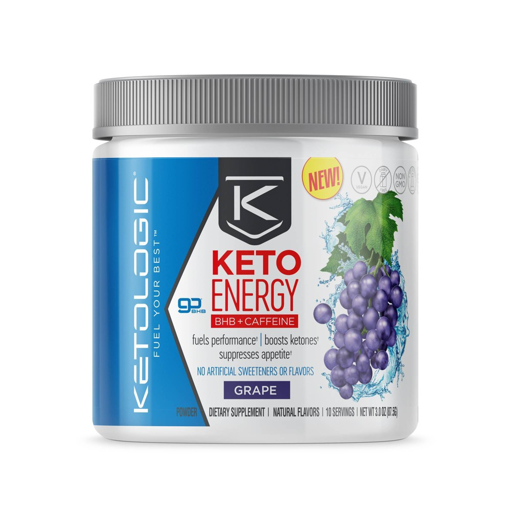 KetoLogic Energy Bhb Salts - Grape - 3.0oz