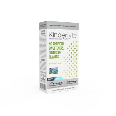 Kinderlyte Advanced Natural Powder - Lemon Lime - 6ct