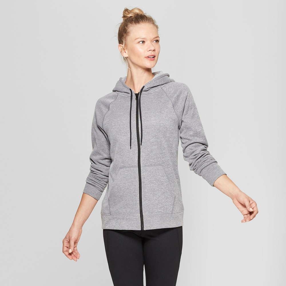 Women's Tech Fleece Full Zip Sweatshirt - C9 Champion Gray L