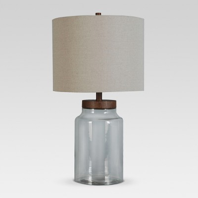 Fillable Glass Assembled Table Lamp Clear Includes Energy Efficient Light Bulb - Threshold™