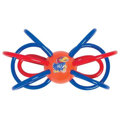 Manhattan Toy Company Kansas Jayhawks Winkel Rattle and Teether Officially Licensed NCAA Baby Toy