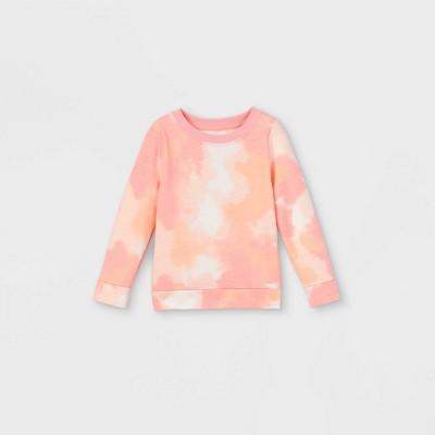 Toddler Girls' Tie-Dye Sweatshirt - Cat & Jack™ Pink