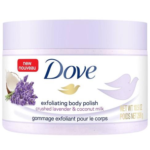 Dove Crushed Lavender Coconut Milk Exfoliating Body Polish Scrub 10 5oz Target