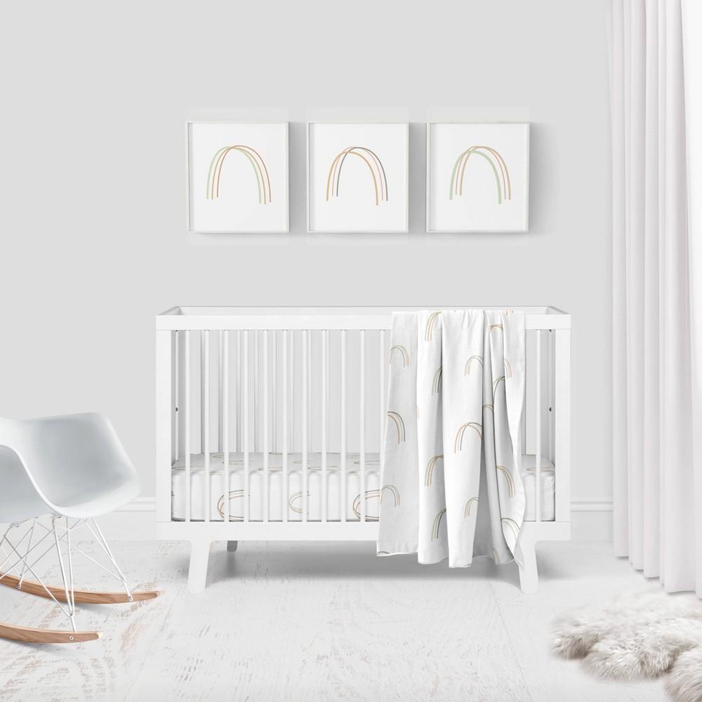 Image of Goumikids Rainbow Organic Bedding Set - 3pc - White