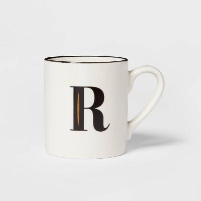 16oz Stoneware Monogram R Mug White - Threshold™