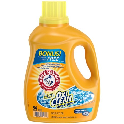 Arm & Hammer Plus OxiClean Fresh Scent Liquid Laundry Detergent - image 1 of 4