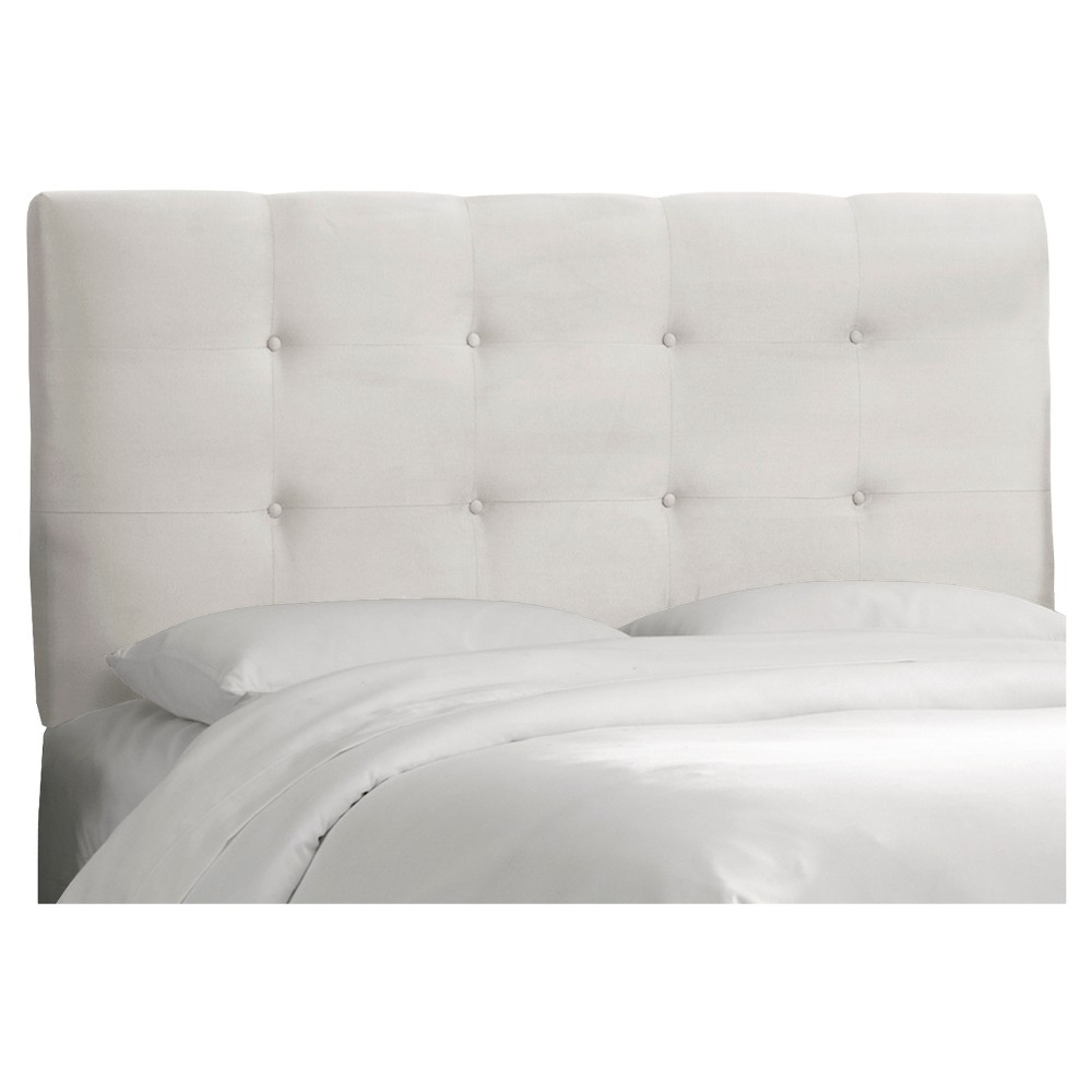 Dolce Microsuede Headboard Premier White King Skyline Furniture